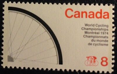 H642-1 Sport World Cycling Montreal 1974 Mnh Canada
