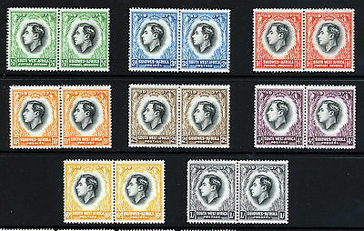 SOUTH WEST AFRICA 1937 Coronation Issue Bilingual Pairs SG 97 to SG 104 MINT