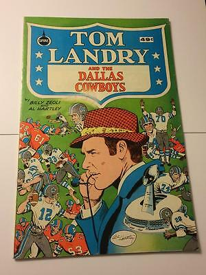 Tom Landry and the Dallas Cowboys spire comics green cover 1970's FN