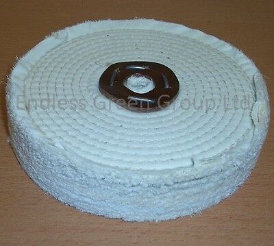 "8"" Stitched Cotton Buffing Wheel - Clean Polish & Restore  200mm x 40mm  C200/3"