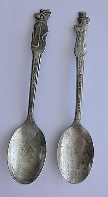 1960's Yogi Bear & Huckleberry Hound Old Company Silver Plate Cereal Spoons