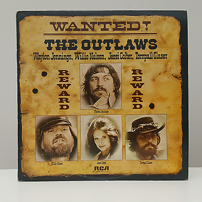 """WAYLON JENNINGS, WILLIE NELSON etc - WANTED! THE OUTLAWS - 12"""" VINYL LP"""