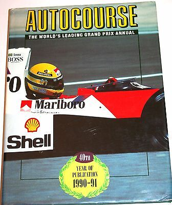 Autocourse Book 1990 1991 Season - 100% Mint Pages! Fabulous Photos Senna Cover