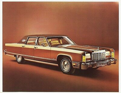 1976 Lincoln Continental Town Car Town Coupe Dealer Sales Brochure