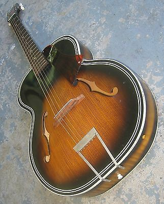 1965 Harmony Archtone Acoustic Guitar w/ Case. Model H1215 Archtop. Made in USA!