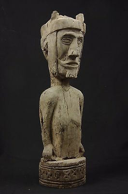 Eroded Ancestor figure with headdress - West Timor
