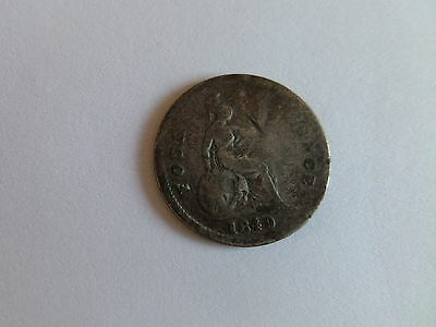 1849 Silver Four Pence (Groat) Coin