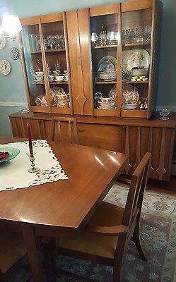 1950's Dining Room Table, 6 chairs, China Cabinet EUC