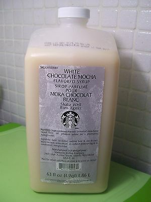 Starbucks White Chocolate Mocha Syrup 63 Fl oz Sealed Bottle Free Ship US 48