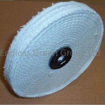 "8"" Stitched Cotton Firm Buffing Wheel  200mm x 13mm ideal metal polishing C200/1"
