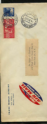 Italy  477   on   cover to   US         MS0305