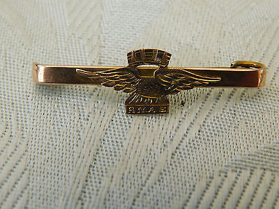 1917 Ww1 World War One Royal Naval Air Service Rnas Gold Sweetheart Badge Brooch