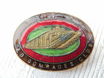 Ww1 Ww2 Royal Tank Corps Regiment Oca Old Comrades Assocition Club Enamel Badge