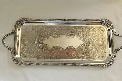 Vintage Silverplated EPC Serving Tray Unique Narrow Rectangular Size