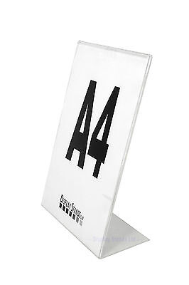 Single Sided Acrylic Poster Menu Holder Perspex Leaflet Display Stands A7 - A4