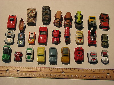 Toy Vehicles - lot of 26 small vehicles, mix plastic, wood