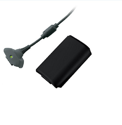Official Xbox 360 BlacK Play & (and) Charge Kit With Battery - Genuine UK Stock