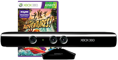 Kinect sensor Bundle with Kinect Adventure Game For Xbox 360 Console - UK Stock
