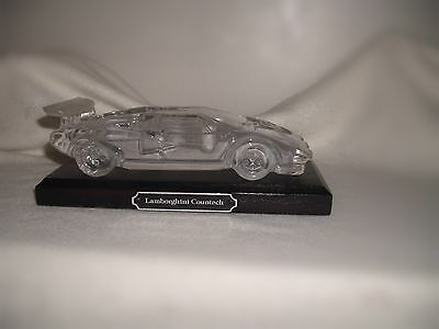 Lamborghini Countach Glass Crystal Car Paperweight In Excellent Condition