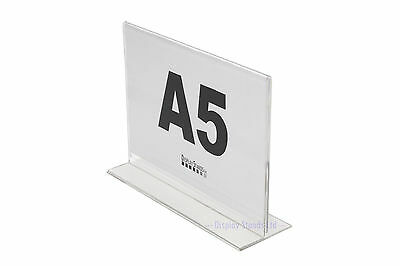 Double Sided Landscape Acrylic Literature Menu Poster Counter Display (SU+)