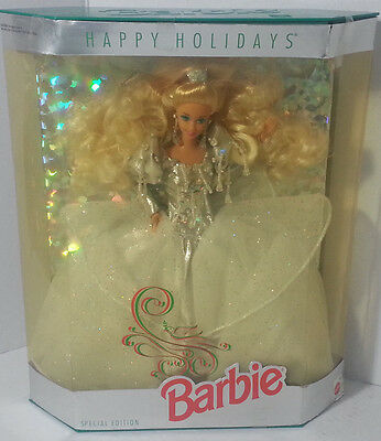 Happy Holidays Barbie 1992 New in Box Blonde  Special Edition