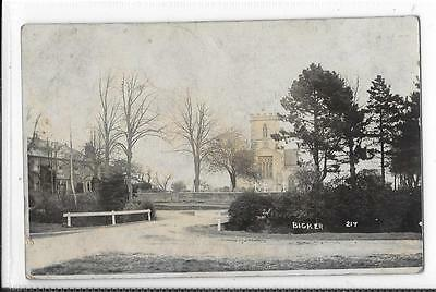 Photographic Postcard Lincolnshire Bicker 217 View of Church