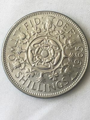 1965 Two 2 Shilling Coin Uncirculated