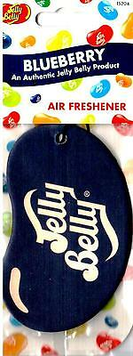 Jelly Belly Bean 2D Car Home Office Air Freshener Blueberry NEW SEALED CARDED