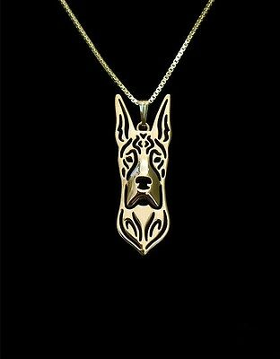 Great Dane Pendant Necklace Gold ANIMAL RESCUE DONATION