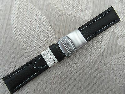 20Mm Water Resist Genuine Leather Watch Strap With Folding Clasp Morellato Italy