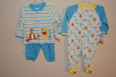 Disney baby Winnie the Pooh Sleeper & 2 piece outfit! size 0/3
