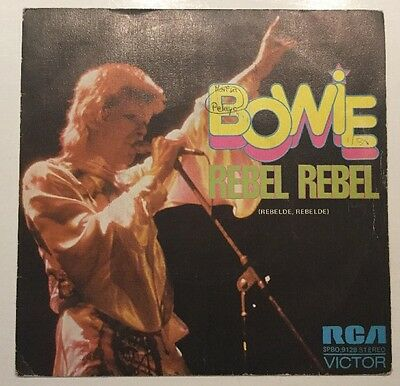 "David Bowie - Rebel Rebel - Queen Bitch 7"" Vinyl Single Spain 1974"