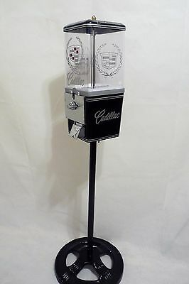 vintage gumball machine candy machine Cadillac + Ford stand