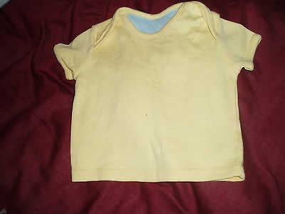First size yellow short sleeved top for a baby boy, GEORGE, up to 9lbs