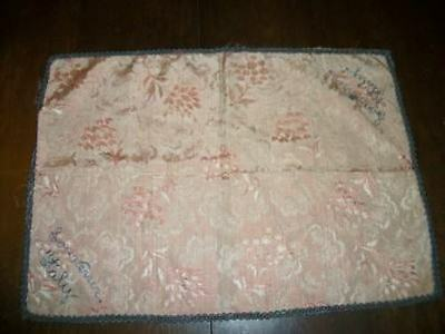 Vintage Souvenir Italy Chic Brocade Runner Doily Embroidered Shabby Paris Apt
