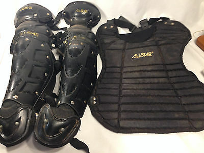 Youth Catchers Equipment - All Star - Shin Guards LG1216APRO - Chest CP22 Good