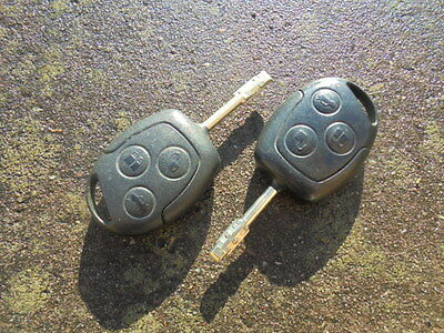Ford Remote Keys X 2  Genuine Complete Working Fobs 3 Button