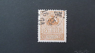 Sweden 1862 3 ore brown SG 12bc fine used cat £16