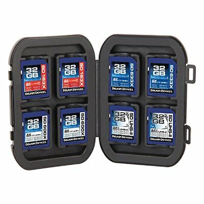 Delkin Secure Digital SD Memory Card Storage Case Tote - Fits 8 Cards - UK