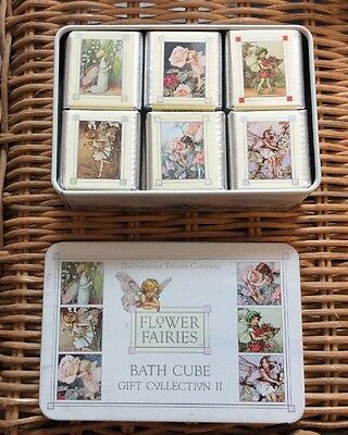 New Flower Fairies Tin & Bath Cubes Bath Salts Cubes @see Description