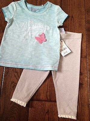Baby girl t shirt and leggings age 9-12m from Next (new)