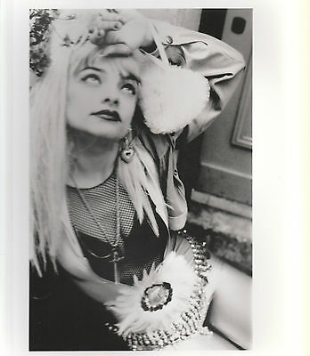 "NINA HAGEN 1991 UK 10"" x  8"" BLACK & WHITE PROMOTIONAL PUBLICITY PHOTOGRAPH"