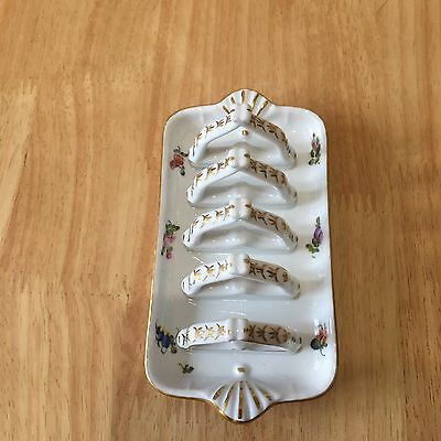 Herend Hungary Hand painted Toast Rack