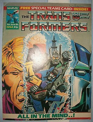 Transformers UK Comic Issue 64 June 1986 Second Generation Part 2