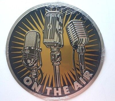 On The Air Metal Sign   Entertainment Room Decor