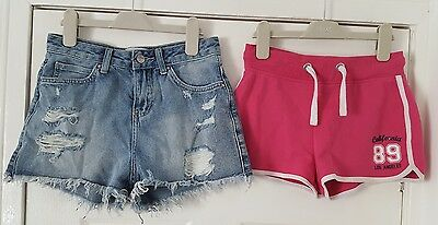 Lovely jeans New Look shorts high waist pink age 12-13