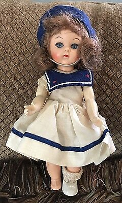 COSMOPOLITAN Ginger Doll from the 1950's Sailor Dress Outfit Beautiful Walker