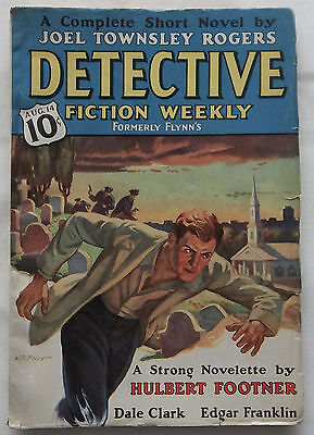 DETECTIVE FICTION WEEKLY pulp magazine  August 14, 1937  VERY GOOD