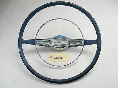 1958 Chevy Belair Steering Wheel And Horn Ring / Button OEM