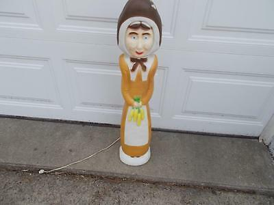 Don Featherstone Union Thanksgiving Pilgrim Woman Blow Mold Yard Decoration